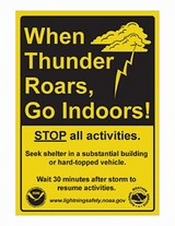 Always know the forecast for the day before you participate in outdoor activities. Weather condition can change rapidly.
